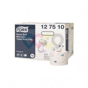 Hârtie igienică rolă Mid-size Tork Premium Extra Delicat